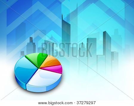 Abstract pie chart on abstract background. EPS 10.