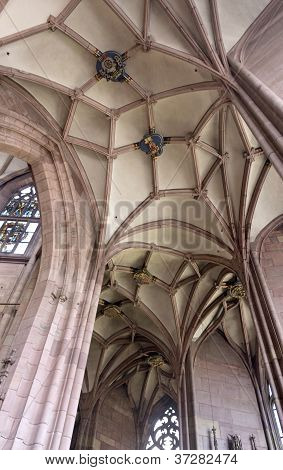 Inside The Minster Of Freiburg Im Breisgau
