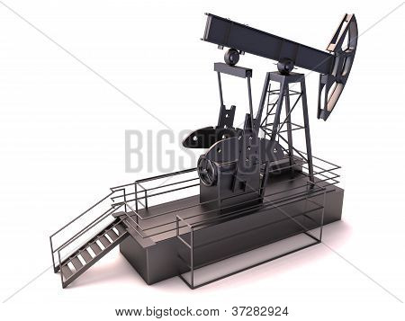 Oil rig isolated