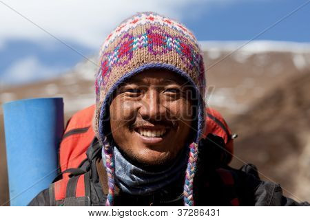 Trekking in the Manaslu region, Nepal