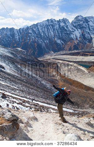 Trekking in the Manaslu region, Nepal
