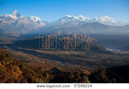 View Of The Himalaya From Sarangkot, Pokhara