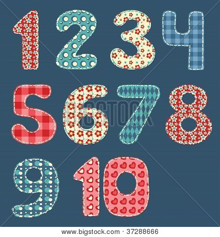 Numbers patchwork set.