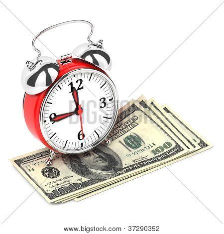 Time is Money 3D Concept.