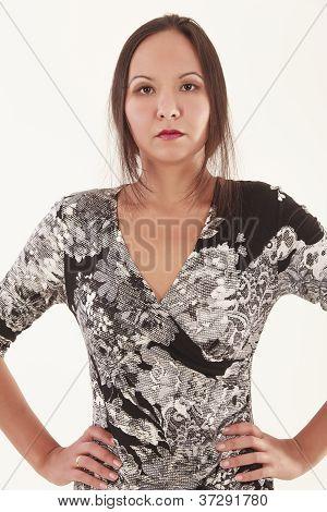 Portrait of a serious Mongolian