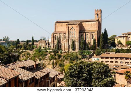 Church Of San Domenico In Siena, Tuscany, Italy