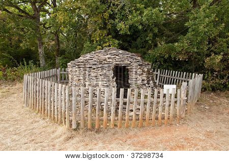 Cadole, stony shelter for shepherd and wine growers  Burgundy France
