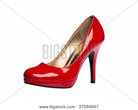 Red Patent Leather Sexy Shoe