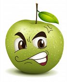 picture of envy  - illustration envy apple smiley on a white - JPG