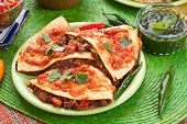 Traditional mexican food quesadillas