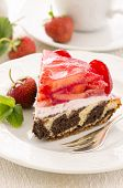 torte with strawberry and quark