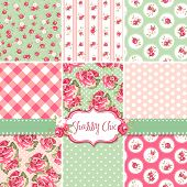 pic of english rose  - Shabby Chic Rose Patterns and seamless backgrounds - JPG