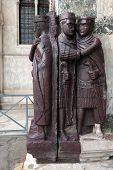 stock photo of porphyry  - Tetrarchs statues in porphyry are 4th century Egyptian - JPG