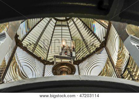Fresnel Lens Inside Of A Lighthouse