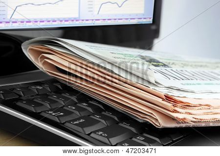 Newspapers on the Keyboard