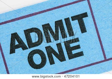 Generic ticket admit one macro detail.