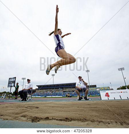 Long Jump Woman Leap Sky Canada
