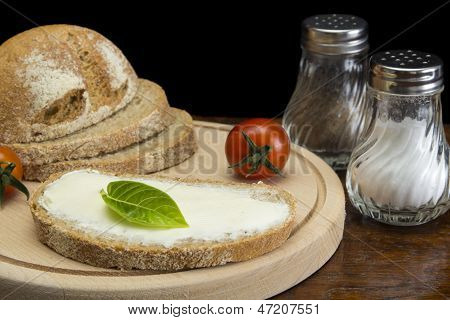 Crema de mantequilla y pan
