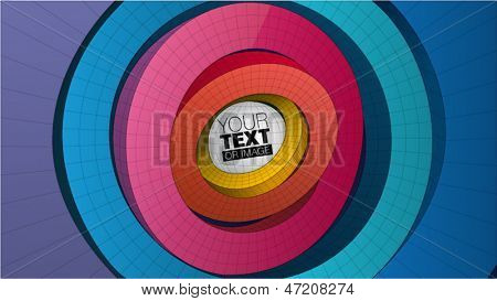 ring form composition for graphic design,  you can change the color keeping form