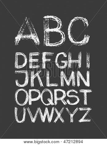 Alphabet. Hand drawn. Vector eps8