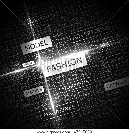 FASHION. Word cloud concept illustration.