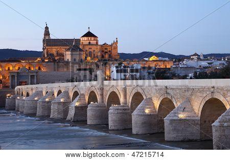 Roman Bridge in Cordoba, Spain