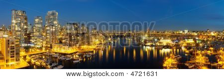 Downtown Vancouver And Granville Bridge Panorama