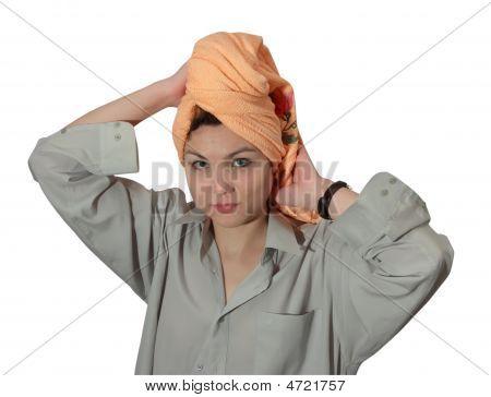 Portrait Of  Girl In Bath Towel