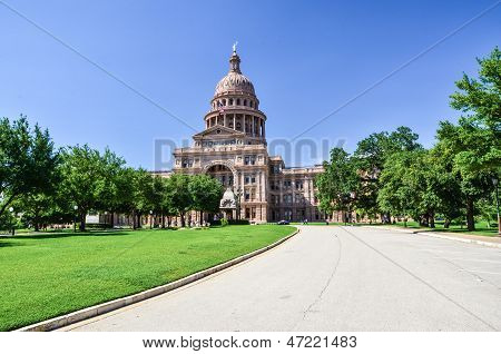 Texas State Capitol Building in Downtown Austin on a Sunny Day
