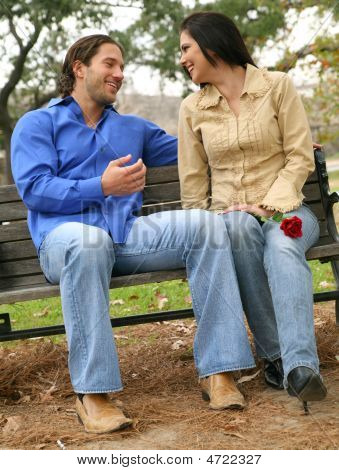 Conversation On Bench