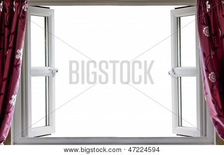 Open Window White Background