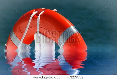 Red Lifebelt on the Water
