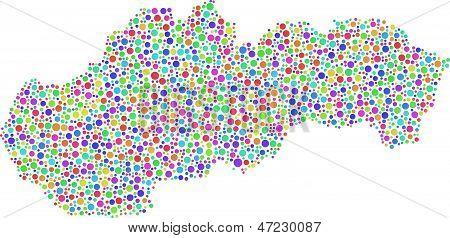 Decorative Map of Slovakia