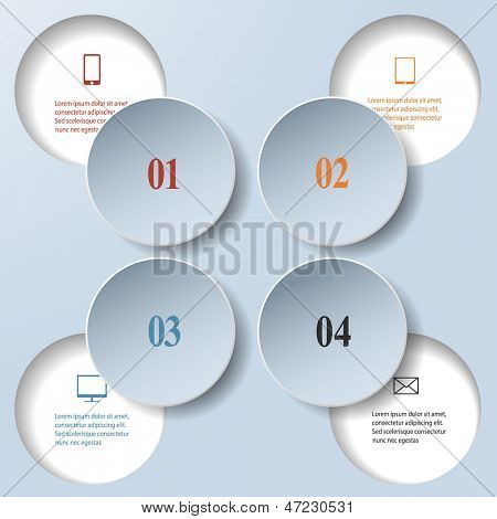 Abstract paper infographics. Internal and external data concept. Vector eps10 illustration