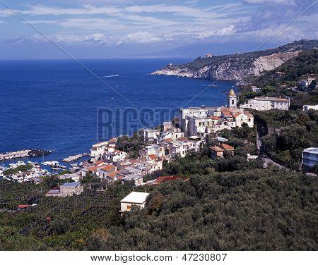 View of Marina della Lobra, Italy.