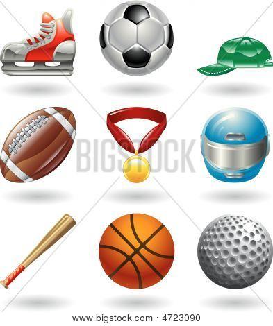 Shiny Sports Icon Set Series
