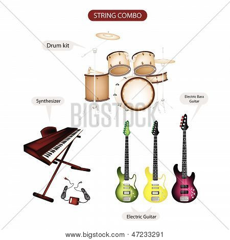 A Set Of String Combo Music Equipment