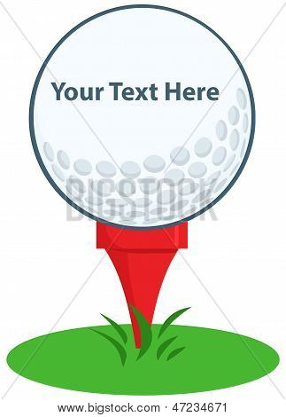 Golf Ball Tee Sign