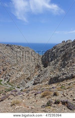 a canyon in Crete