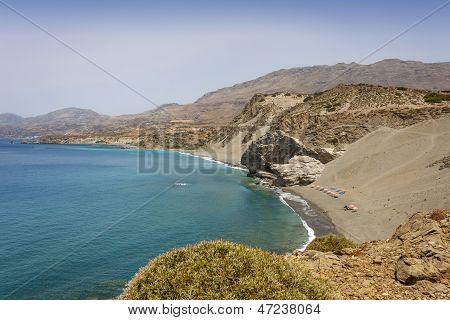 the beautiful beach of Agios Pavlos, in Crete Island