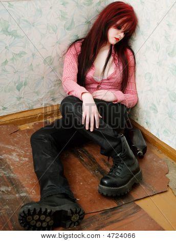 Young Drunken Woman