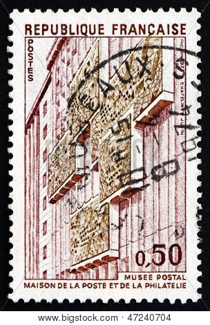 Postage Stamp France 1973 Shows Postal Museum