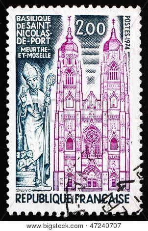 Postage Stamp France 1974 Shows Basilica Of St. Nicolas De Porte