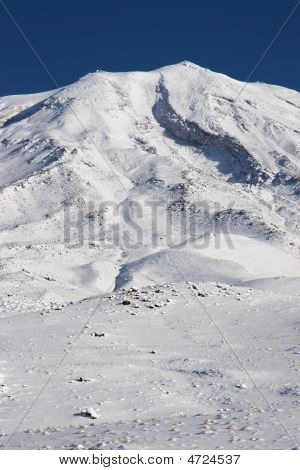 Closeup Photo Of Mount Ararat In Winter