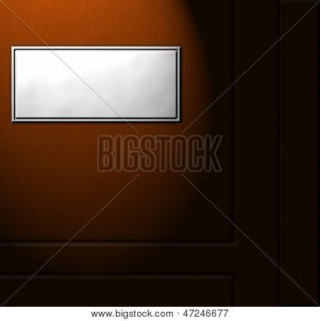 sign board on a wooden door