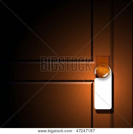 Note hanging by the door knob