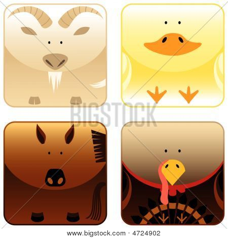 Farm Animals - Icon Set 3