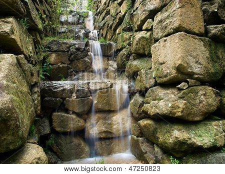 Artificial Waterfall With Differents Levels