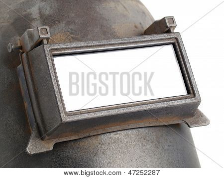 Welding Mask Detail On White Background