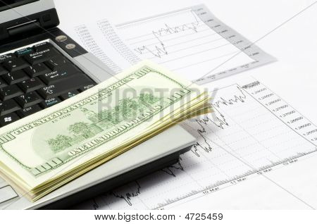 Dollars And Notebook